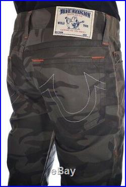New! $299 True Religion Mens Slim Moto Single End Slow Ride Camo Pants Size 31