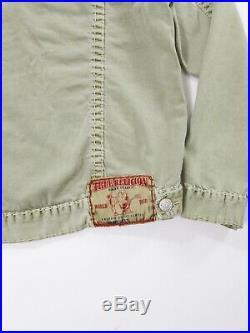 New Men's True Religion Denim Jacket Size XL Custom Rhinestone Pockets MSRP $266