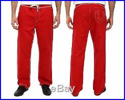 New Mens True Religion Brand Jeans Red Contrast Big T Stitch Sweatpants Pant