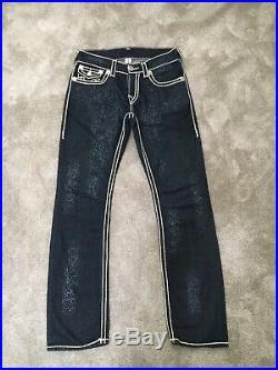 New Mens True Religion Ricky Rope Stitch Jeans Waist W30 L34 RRP £420