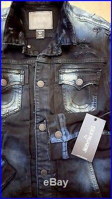 New TRUE RELIGION Dylan Denim Renagade Jacket Stitch Size Large $399.00