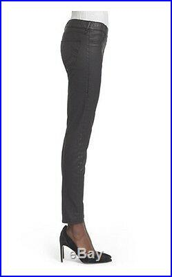 New True Religion Black Butter Coated Runway Legging Faux Leather Skinny Pants