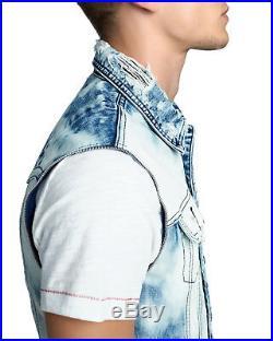 New True Religion Brand Jean Acid Wash 2 IN 1 Danny Denim Jacket $299 All Size