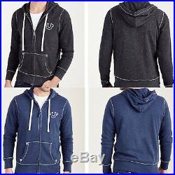 New True Religion Brand Jeans BIG T ZIP UP MENS HOODIE $169 SizeS M L XL XXL