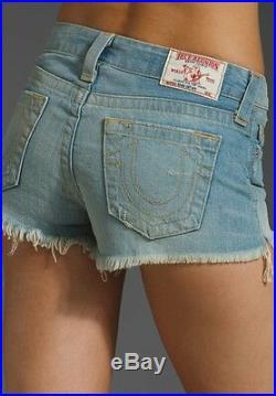 New True Religion Brand Jeans Dana Cut Off Short Frayed Hem Vintage Traveler