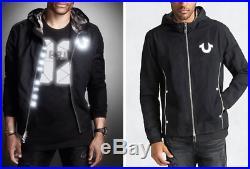 New True Religion Brand Jeans Reflective Moto Men's Jacket MC431TF1 SizeXXL 2XL