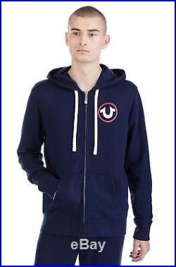 New True Religion Brand Jeans WORLD ACTIVE ZIP UP MENS HOODIE $169 SizeL