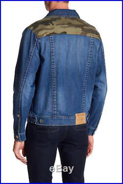 New True Religion Camo Denim Jacket XXL 2XL XXLARGE
