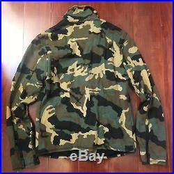 New True Religion Camo Moto Jacket Derringer Print Camo 100889 Men Size Small