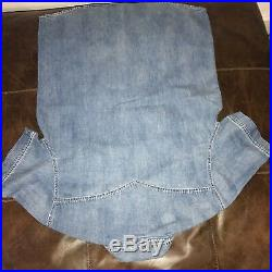 New True Religion Faded Blue Denim Jeans Shirt XLarge XL Slim Fit
