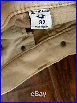 New True Religion Men Khaki Shorts Fit Big 40