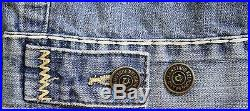 New True Religion Men's Jimmy Slim Fit Super T Stitch Vintage Denim Jean Jacket