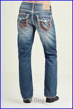 New True Religion STRAIGHT FLAP SUPER QT STITCH MENS Jeans $349 Size32 34 36