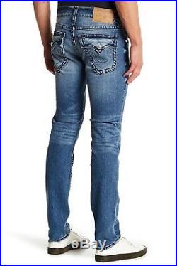 New True Religion Skinny Super T Stonewash Jean With Flap Size W31 $298