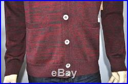 New True Religion Space Dye 100% Wool Premium Casual Cardigan Sweater For Men
