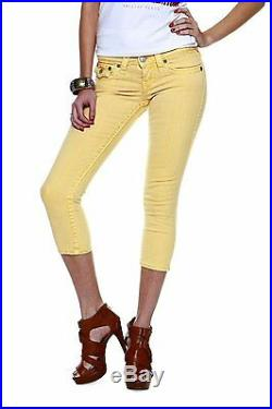 New True Religion Women's Premium Skinny Capri Jeans Lily Spt Cropped W95g56n99