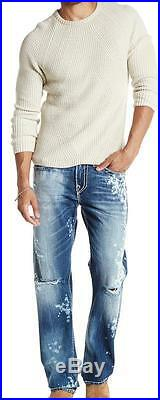 New with Tag $399 True Religion Ricky Straight Leg Super T Jeans Size 32