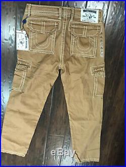 Nwt True Religion Men Salmon Cargo Big T Pants 33 x 32
