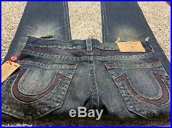 Nwt True Religion Straight New Designer Men's Jeans Size 33x34
