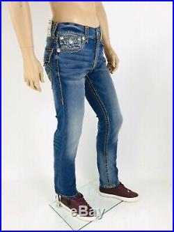 Rocco Super T True Religion Men Jeans Super Stitch Blue 31 32 34 36 38 Skinny