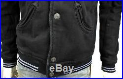 TRUE RELIGION $249 Men's Collegiate Varsity Knit Bomber Jacket MSMAQ2UT7