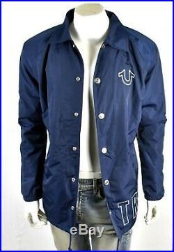 TRUE RELIGION Brand Jeans Men's Wrap Logo Coach Fur Lined Nylon Jacket 101392