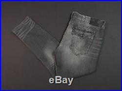 TRUE RELIGION Geno Stretch Cotton Relaxed Slim Leg Grey Jeans NEW NWT $229