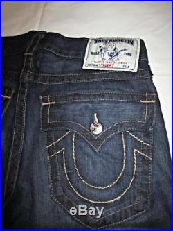 TRUE RELIGION Lonestar Straight leg Mens Blue Jean Size 32 NWT NEW MDE859N53