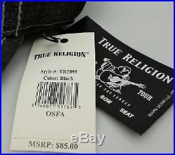 TRUE RELIGION Men's Vintage Distressed Cotton Horseshoe Trucker Hat TR2095 NEW