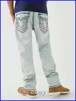 TRUE RELIGION Mens Light Anchor Blue Ricky Super T Straight Jeans W33 NEW RRP229