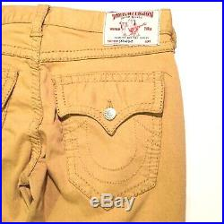 TRUE RELIGION Mens Straight Flap Pocket Khaki Stretch Denim Jeans (MSRP $249)