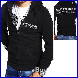 TRUE RELIGION Sweatjacke Kapuzenpullover Hoodie ARTWORK Schwarz Brand Jeans NEU