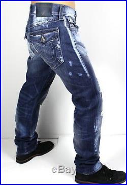True Religion $188 Men's Distressed Geno Slim Straight Jeans ME08NWY0