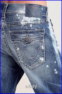 True Religion $188 Men's Geno Slim Straight Brand Jeans ME08NWY0