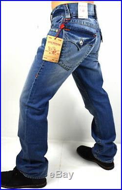 True Religion $189 Men's Hand Picked Mid Drifter Straight Jeans M2F859OM 30x33