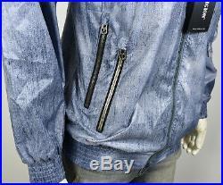True Religion $199 Men's Denim Print Reversible Wind Breaker Jacket MSQBB6CA2