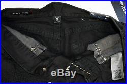True Religion $199 Men's Geno Slim Destroyed/Mended Jeans MDBJ19N20N Black