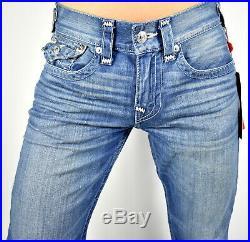 True Religion $199 Men's Ricky Relaxed Straight Brand Jeans 102472