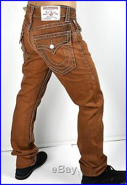 True Religion $222 Men's Hand Picked Colored Straight Big T Jeans MNRS859EIC