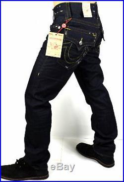 True Religion $229 Men's Hand Picked Body Rinse Slim Straight Jeans 100686