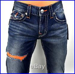 True Religion $229 Men's Hand Picked Burning Rocks Rips Straight Jeans 100101