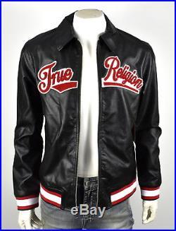 True Religion $249 Men's Chenille Vegan Faux Leather Jacket 100047