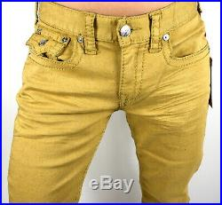True Religion $249 Men's Hand Picked Big T Colored Relaxed Straight Jeans 101092