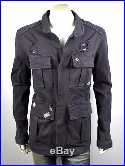 True Religion $249 Men's Military Distressed Jacket MC760WVS