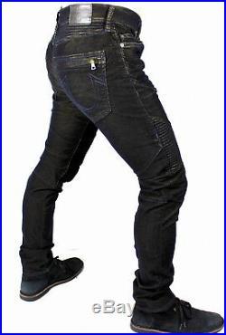 True Religion $259 Men's Rocco Two Tone Skinny Corduroy Moto Jeans MDBA90445F