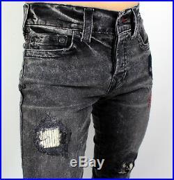 True Religion $279 Men's Rocco Patched Skinny Stone Relic Jeans MDAJ60N26J