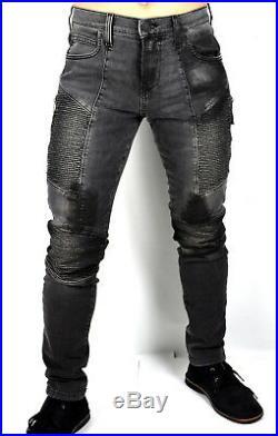 True Religion $279 Men's Rocco Washed Black Skinny Moto Jeans -100421