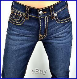 True Religion $299 Men's Ricky Dk Neutron Relaxed Straight Super T Jeans -101767