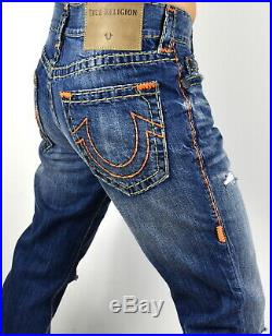 True Religion $329 Men's Ricky Relaxed Straight Super T Jeans 101256