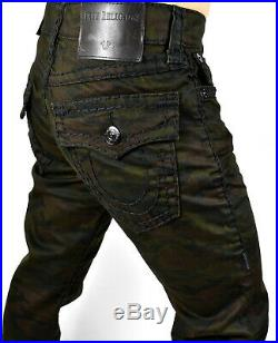 True Religion $329 Men's Ricky Super T Relaxed Straight Camo Jeans 101533